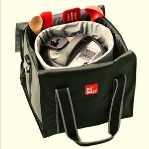 POT BELLY INSULATED COOKER BAG FOR COOKERS in GREY